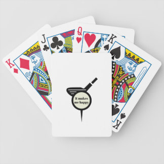 It Makes Me Happy-Golf Mug Bicycle Playing Cards