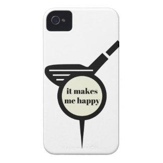 It Makes Me Happy-Golf Mug iPhone 4 Covers