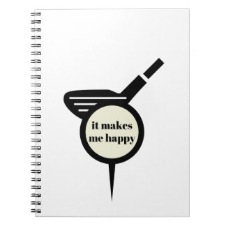 It Makes Me Happy-Golf Mug Notebook