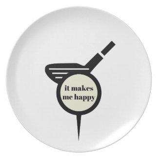 It Makes Me Happy-Golf Mug Plate
