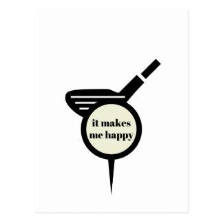 It Makes Me Happy-Golf Mug Postcard