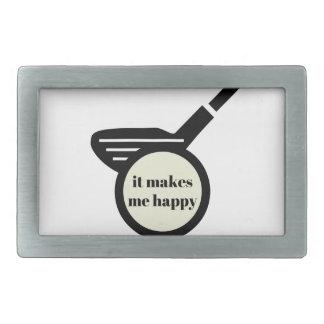 It Makes Me Happy-Golf Mug Rectangular Belt Buckle