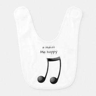 It Makes Me Happy-Music Bib