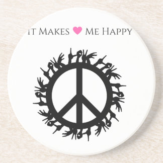 It Makes Me Happy-Peace Coaster