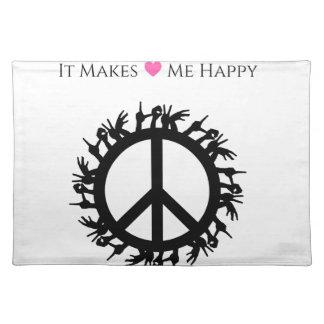 It Makes Me Happy-Peace Placemat