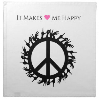 It Makes Me Happy-Peace Printed Napkins