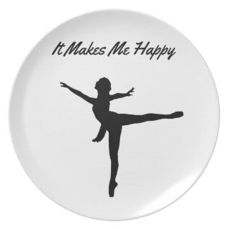 It Makes Me Happy Plate