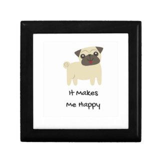 It Makes Me Happy- Pug Gift Box