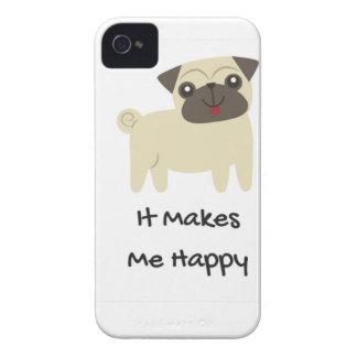 It Makes Me Happy- Pug iPhone 4 Case-Mate Cases