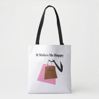 It Makes Me Happy-Shopping Tote Bag