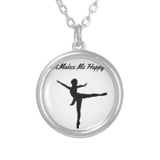 It Makes Me Happy Silver Plated Necklace
