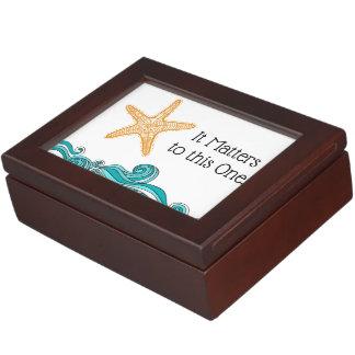 It Matters to This One Starfish Keepsake Box