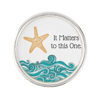 It Matters to This One Starfish Lapel Pin