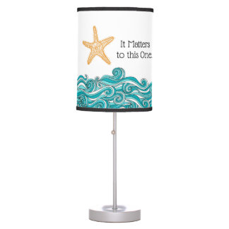 It Matters to This One Starfish Table Lamp
