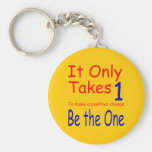 It Only Takes One New Gold Keychain