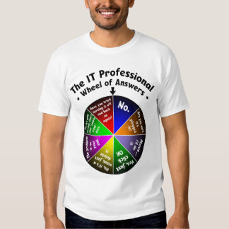 IT Professional Wheel of Answers T Shirts