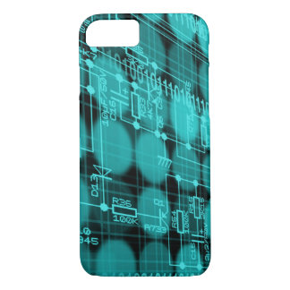 IT programmer high tech computer circuit board iPhone 8/7 Case