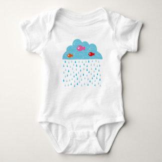It rains it is funny baby bodysuit