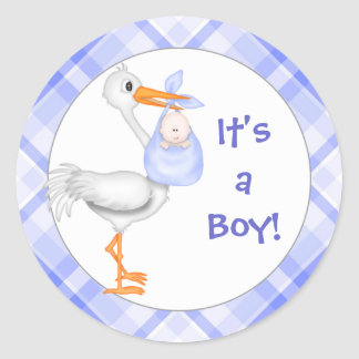 It;s a Boy! Baby Boy Announcement Stickers