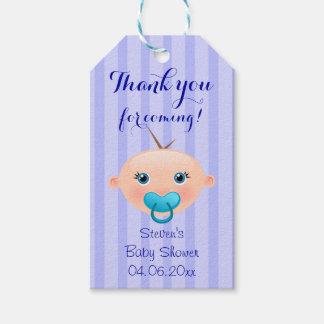 It´s a Boy Baby Face Blue Baby Shower Gift Tag Pack Of Gift Tags