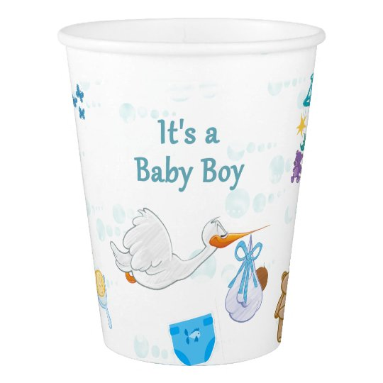It's a Boy – Personalized Baby Shower Paper Cup