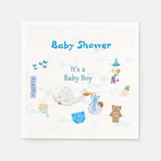 It's a Boy – Personalized Baby Shower Paper Napkin