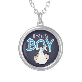 It, s. a. Boy! Silver Plated Necklace