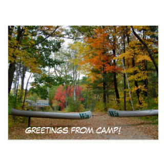 It;s a camp postcard! postcard
