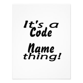 It s a code name thing personalized invite