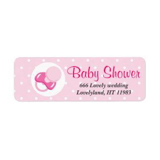 It s a Girl Baby Girl Design Return Address Labels
