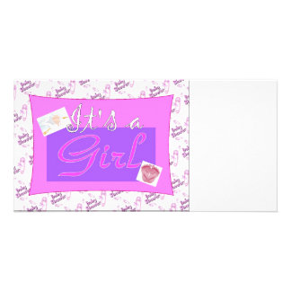 It s a girl Baby Shower Invitations Photo Cards