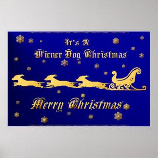 It s A Wiener Dog Christmas Print