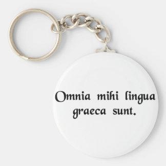 It s all Greek to me Keychain