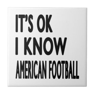 It s OK I Know American Football Dance Tiles