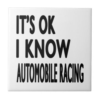 It s OK I Know Automobile Racing Dance Tiles