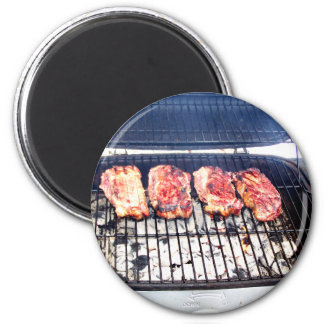 It s Snowing Let s Grill Ribeyes Fridge Magnets