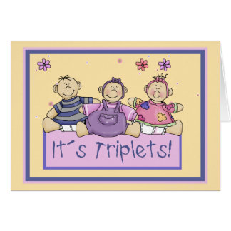 It´s Triplets Card