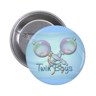 IT S TWIN BOYS BABY RATTLE by SHARON SHARPE Button