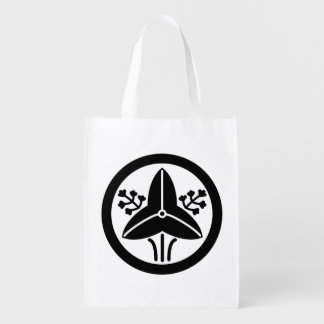 "It stands in the house crest ""circle, the water reusable grocery bag"