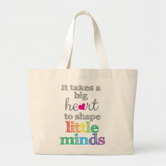 It takes a BIG HEART Teacher's Tote bag
