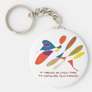 It Takes a Long Time to Grow an Old Friend Basic Round Button Keychain