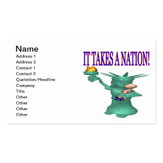 It Takes A Nation Pack Of Standard Business Cards