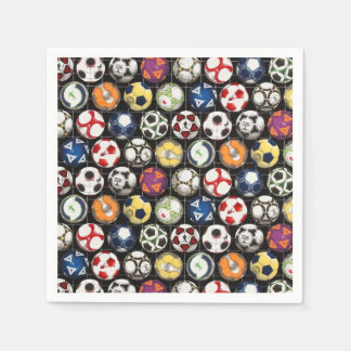 It Takes Balls to Play Soccer Disposable Napkin