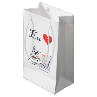 It takes the Coffee with Poetry for its house Small Gift Bag