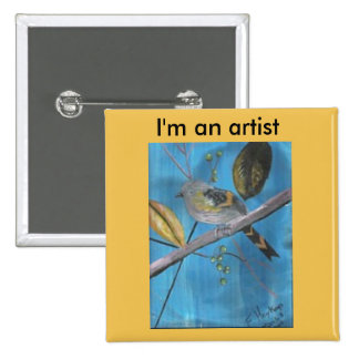 It tells that I create things on canvas, paper,etc 2 Inch Square Button