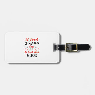 It took 100 years to look this good luggage tag