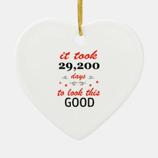 It took 80 years to look this good ceramic heart ornament