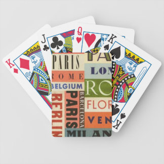 It travels to Europe - Letters of Poker Poker Deck