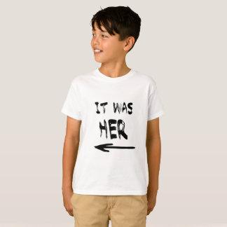 It Was Her! Boys Tee