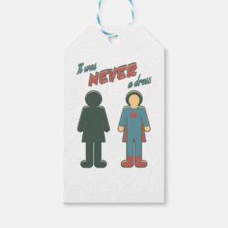 It Was Never A Dress - Wonder Super Girl Woman Gift Tags